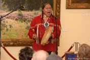 The late Joseph Firecrow performed flute and storytelling at the Opening Celebration in 2014.