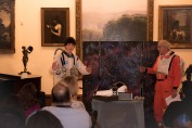 """Liam Schwab and Ron Cox perform a skit based on the Year 6 book """"The Martian"""" and companion book """"Cosmic."""""""